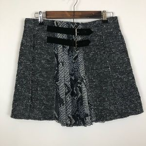 Vintage dvf pleated tweed mini skirt size 2
